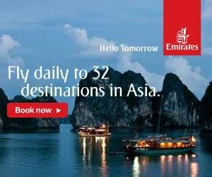 Emirates Asia Destinations to Singapore Hong Kong India Pakistan Singapore Bali Mauritius Thailand and other Asian Cities