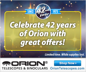Happy Anniversary to Orion Telescopes and Binoculars