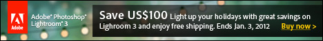 $100 off Adobe Photoshop Lightroom 3