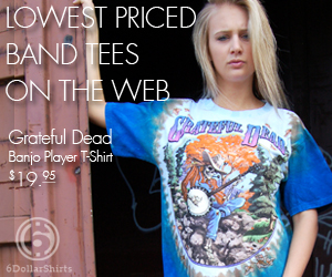 Grateful Dead Banjo Player T-Shirt $19.95!