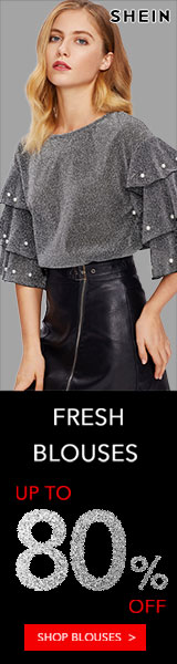160x600 Fresh Blouses! Blouses now up to 80% off! Visit SheIn.com! Ends 11/26