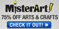 Save up to 75% off art supplies at MisterArt.com!