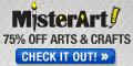Save up to 75% off art supplies at MisterArt.com!