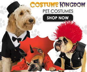 Pet Costumes w Free Shipping