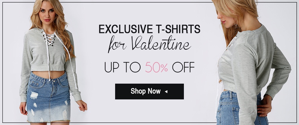 up to 50% off for Valentine's T-shirt