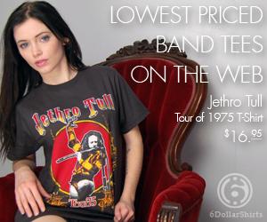 Jethro Tull Tour of 1975 T-Shirt $16.95!