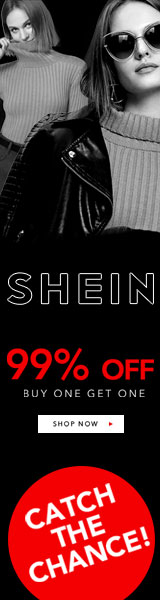 160x600 Catch the Chance! Buy one get one 99% off! Visit SheIn.com  Ends 11/26