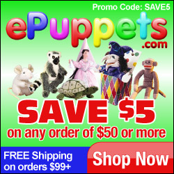 ePuppets.com - Save $5 on any order of $50 or more