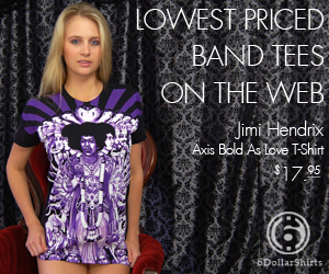 Jimi Hendrix Axis Bold As Love T-Shirt $17.95!
