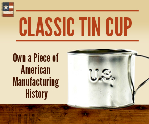 classic tin cup