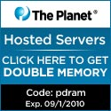 The Planet - Hosted Services use Coupon Code: 'pdr