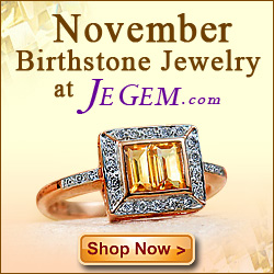 JeGem.com ~ Shop November Birthstones
