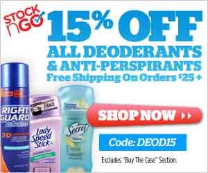 300x250 Deodorants & Anti-Perspirants 15% Off