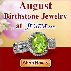 Check out August Birthstone Jewelry at JeGem.com!