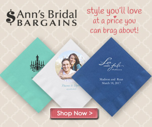 Personalized Wedding Napkins from Ann's Bridal Bargains