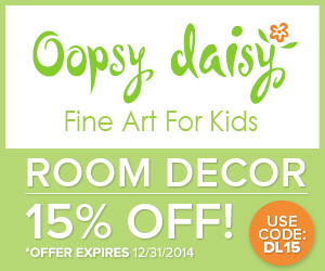 Save 15% off at Oopsy Daisy