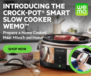 NEW Crock-Pot Smart Slow Cooker with WeMo 300x250