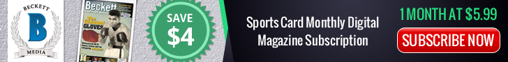 Sports Card Monthly Digital Magazine 1 Month Subscription at $5.99
