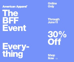 30% Off Sale at American Apparel