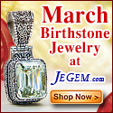 Check out March Birthstone Jewelry at JeGem.com!