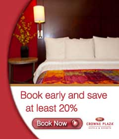 Book Early & Save up to 20% at Crowne Plaza Now!