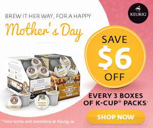 Mother's Day! Save $6 off every 3 boxes of K-Cup® packs & get FREE SHIPPING