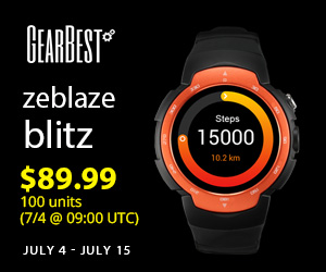 Zeblaze Blitz 3G Smartwatch Promotion: $89.99 for the First 100 Pieces, $99.99 from Jul.4-Jul.15