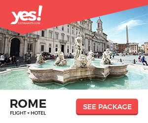 Image for Yes!Getaways | Rome | Banner 300 x 250 | Evergreen