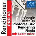 IDX Renditioner - one button photorealistic rendering for use with Google SketchUp.