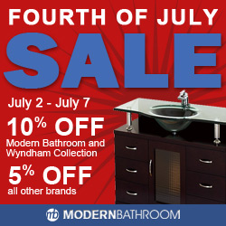 Save an additional 10% at Modern Bathroom