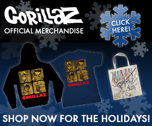 Gorillaz Official Merchandise - Holiday