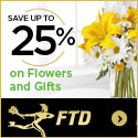 Save up to 25% on all Flowers and Gifts 125 x 125
