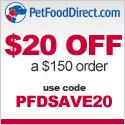 PFDSAVE20 - $20 Off $150 - 125x125