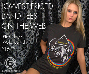 Pink Floyd World Tour T-Shirt $16.95!