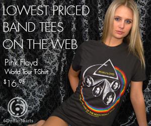 Pink Floyd World Tour T-Shirt $16.95!