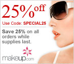 25% off ALL orders at Makeup.com!