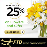 Save up to 25% on all Flowers and Gifts 200 x 200