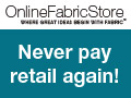 Deals on Online Fabric Store Coupon: Extra $100 Off $1000+ Order