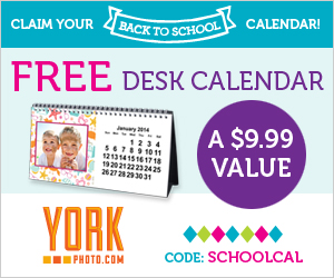 Free Custom Desk Calendar - A $9.99 Value!