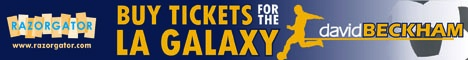 Buy Tickets to see David Beckham with the LA Galaxy Soccer Team (American Football)