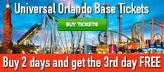 Universal Orlando Base Tickets - Buy 2 Days & Get the 3rd Day FREE!