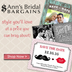 Stylish Save the Dates from Ann's Bridal Bargains