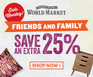 Friends & Family Save an Extra 25%