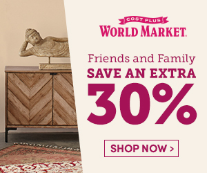 Friends & Family! Extra 30% off almost everything + free shipping on $100+ online  USE CODE: FRIENDS
