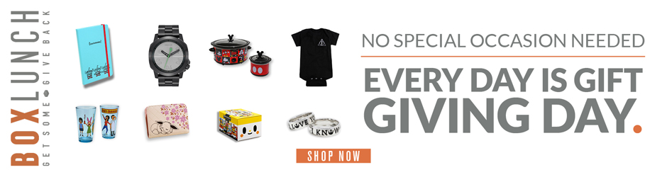 No Special Occasion Needed: Every Day Is Gift Giving Day! Shop BoxLunch Today!