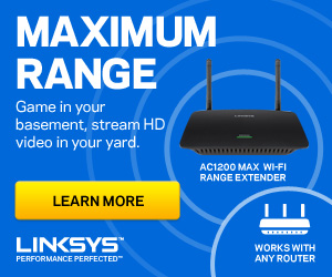 NEW Linksys RE6500 Wireless AC Range Extender 300x250