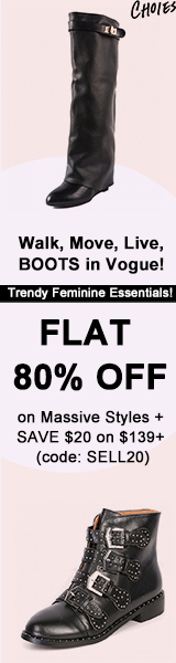 Walk, Move, Live, BOOTS in Vogue! FLAT 80% OFF on Massive Styles + SAVE $20 on $139+ (code: SELL20)