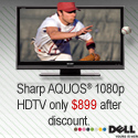 Columbus Day TV Deal! Sharp Aquos 1080p HDTV for o