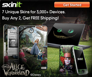 Alice in Wonderland Mad Hatter Phone and Laptop Skins