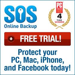 SOS Online Backup Free Trial Offer